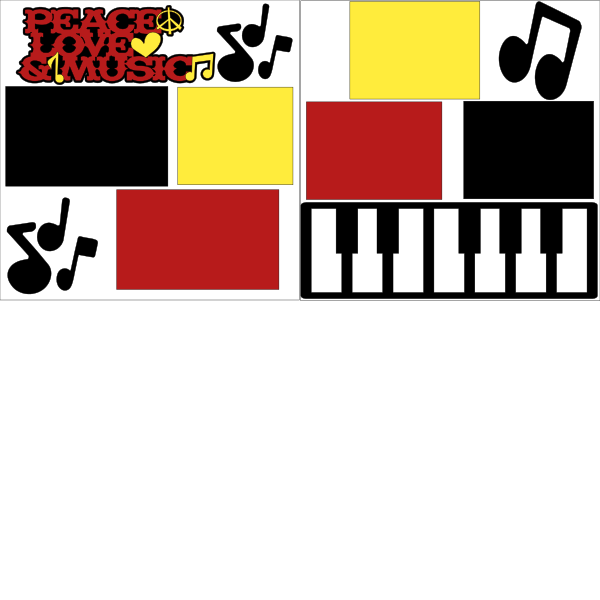 PEACE LOVE MUSIC  ... Page Kit