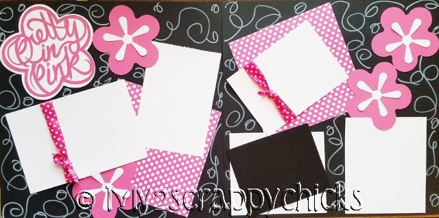 PRETTY IN PINK (FLOWERS)  page kit