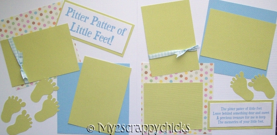 PITTER PATTER OF LITTLE FEET BOY page kit