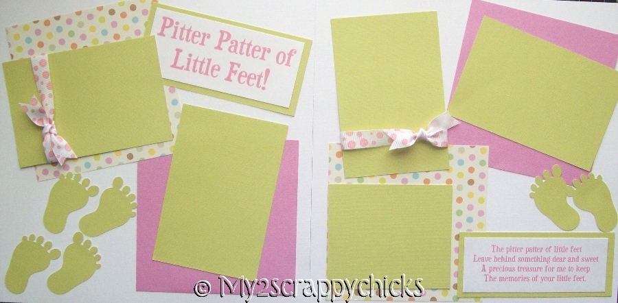 PITTER PATTER OF LITTLE FEET GIRL  page kit