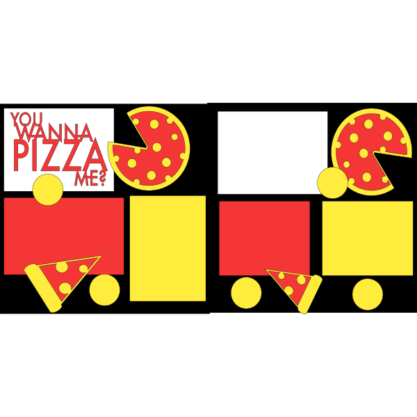 YOU WANNA PIZZA ME?  -basic page kit
