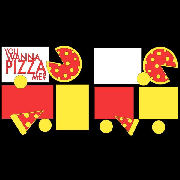 YOU WANNA PIZZA ME?  -basic page kit