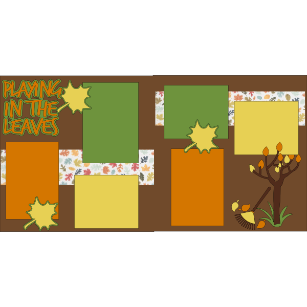 PLAYING IN THE LEAVES -basic page kit