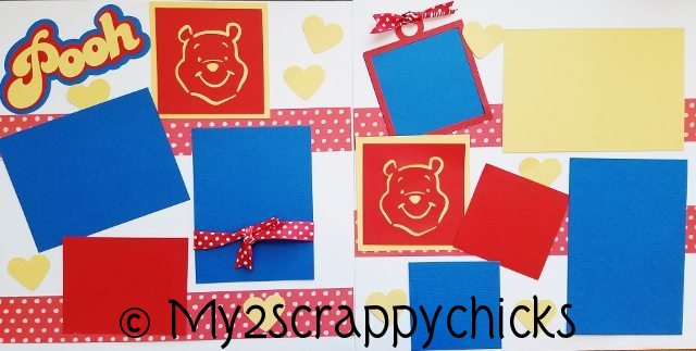 WINNIE THE POOH (RED DOTS) PAGE KIT