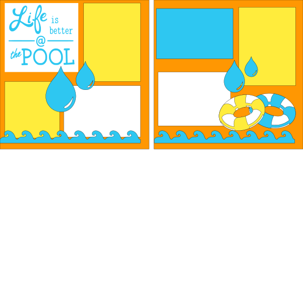 Life is better at the Pool --  page kit