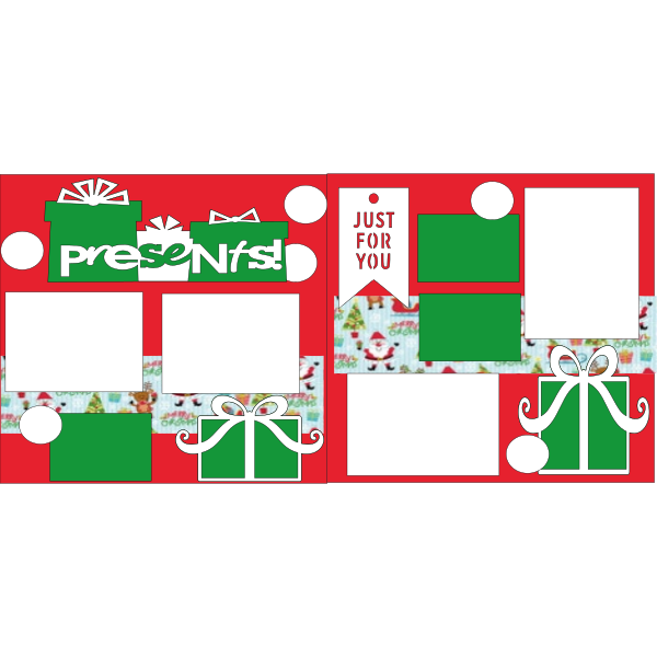 PRESENTS--CHRISTMAS  -basic page kit