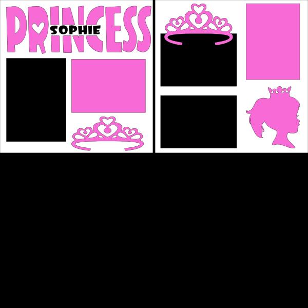 Princess (personalized)--  page kit