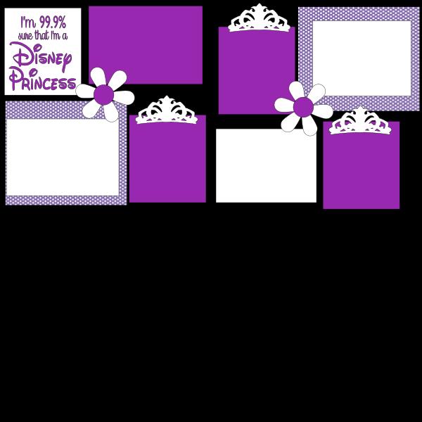 99% sure I'm a Disney Princess     --  Basic  page kit