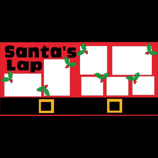 SANTA'S LAP (HOLLY)  -basic page kit