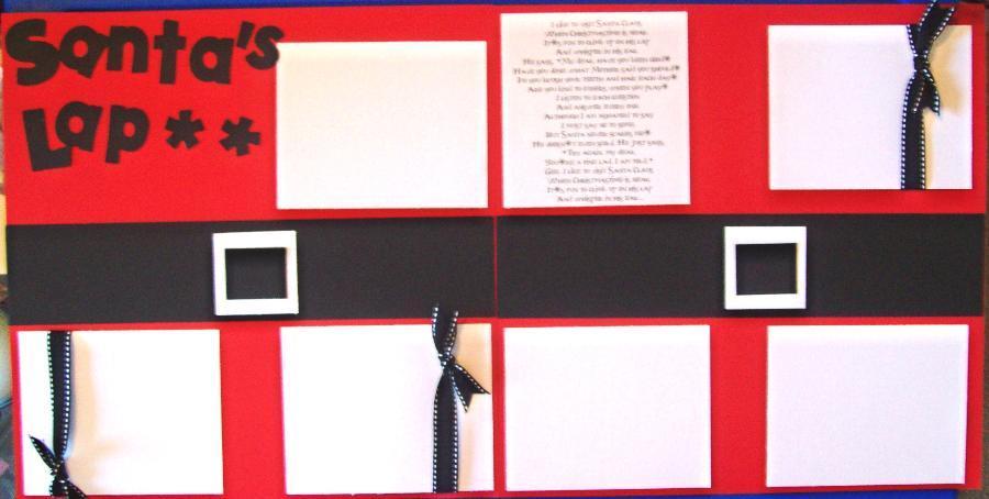 Santa's Lap ** Page Kit