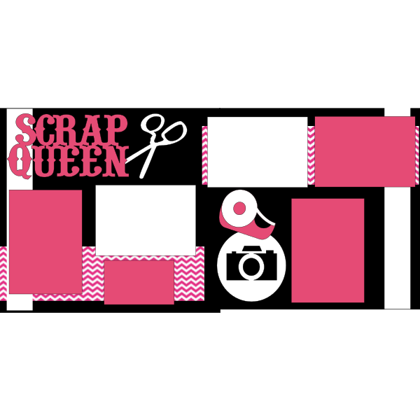 SCRAP QUEEN SCRAPBOOKING  -basic page kit