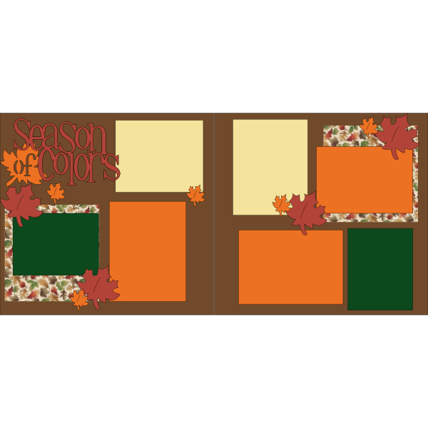 FALL SEASONS OF COLOR  -basic page kit