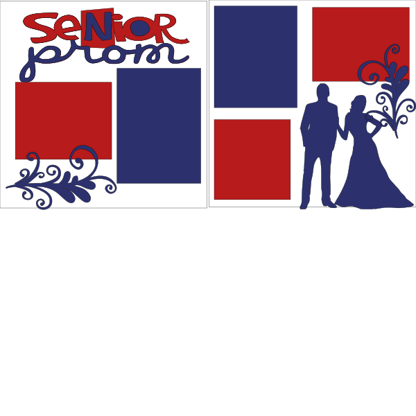 Senior Prom 2 --  page kit