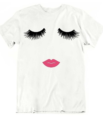 Glamour Eyes and Lips T-shirt