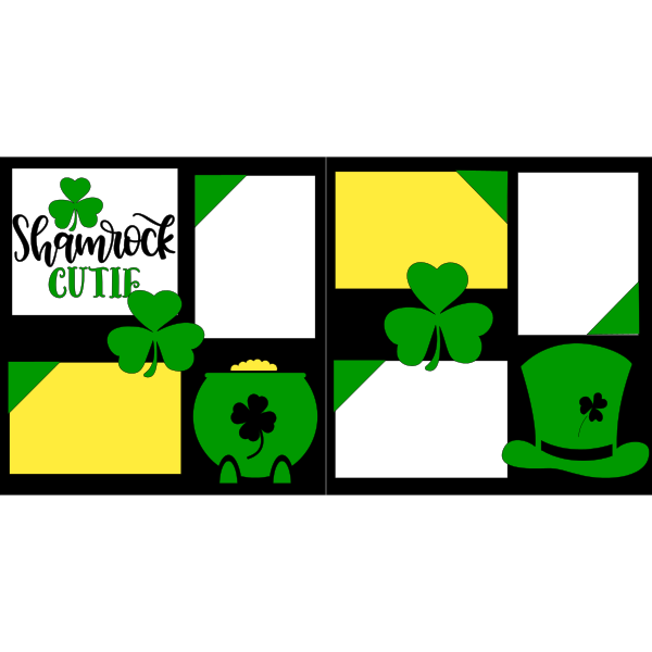 SHAMROCK CUTIE  -basic page kit