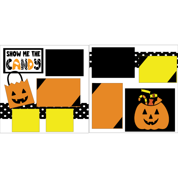 HALLOWEEN-SHOW ME THE CANDY !-basic page kit