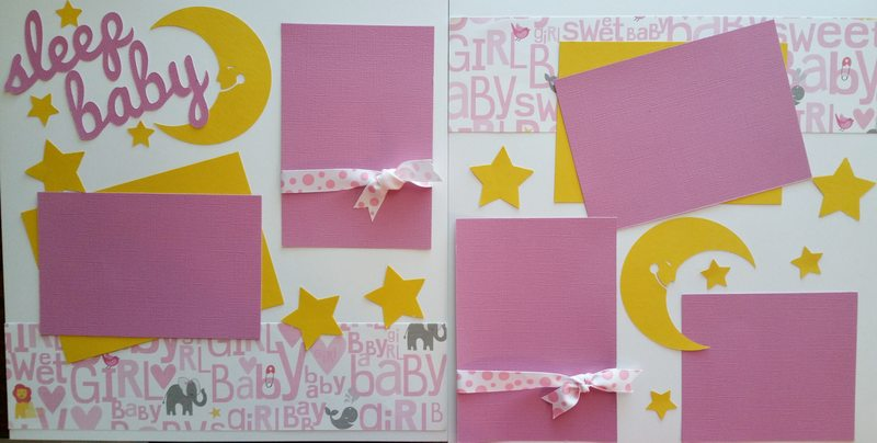 SLEEP BABY GIRL PAGE KIT