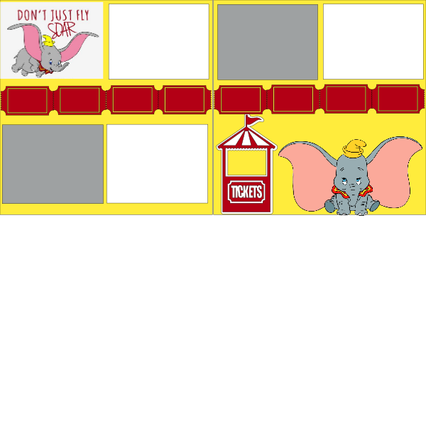 DUMBO DISNEY WHY FLY WHEN YOU CAN SOAR  -basic page kit