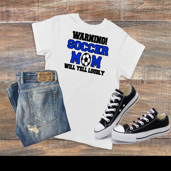 WARNING SOCCER MOM T-SHIRT