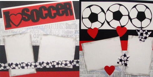 I Love Soccer  Page Kit
