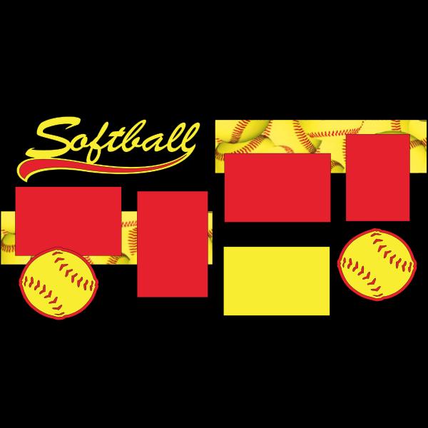 SOFTBALL  -basic page kit