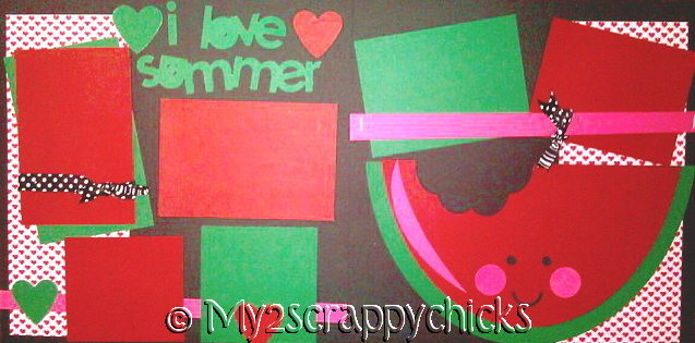 I LOVE SUMMER (WATERMELONS)  page kit
