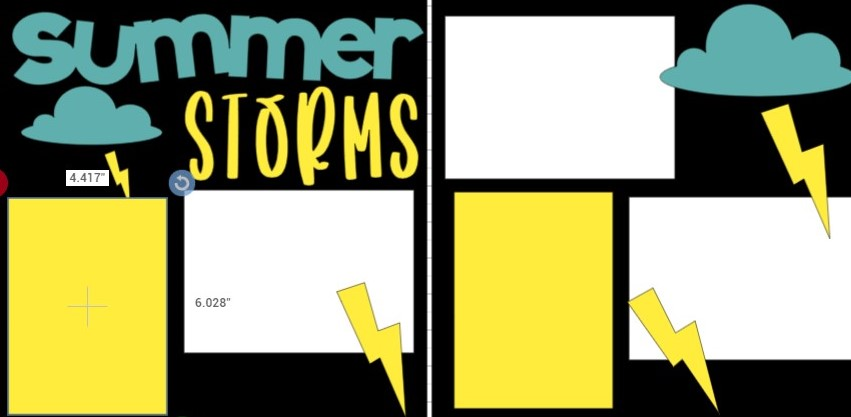 SUMMER STORMS -  page kit