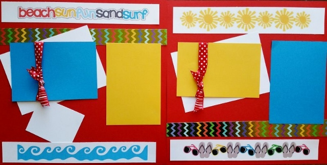 BEACH SUN AND SAND  page kit