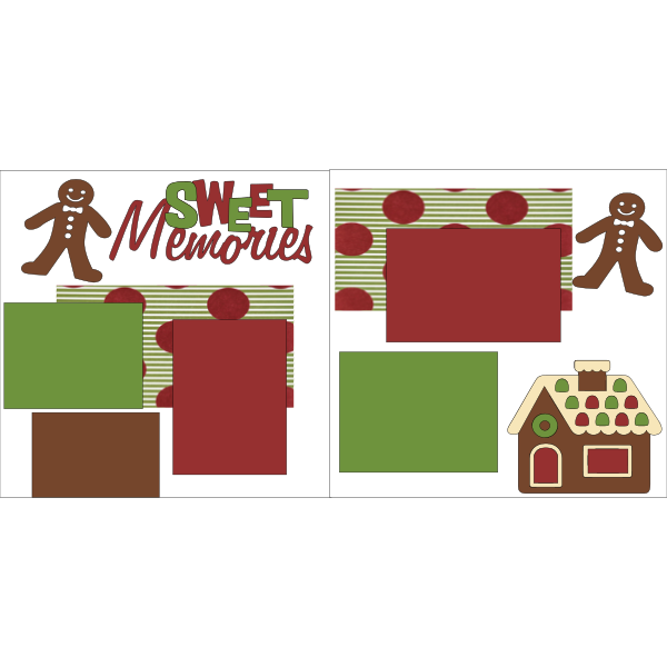 SWEET MEMORIES (GINGERBREAD HOUSES)  -basic page kit
