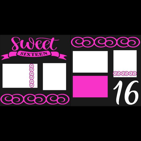 SWEET 16  -basic page kit