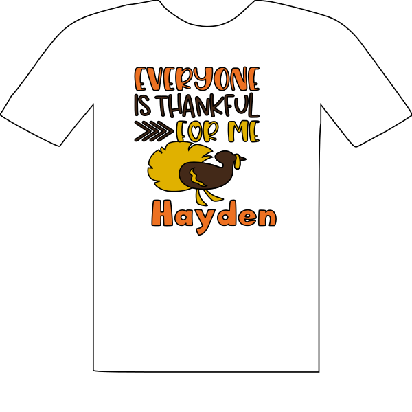 T-SHIRT EVERYONE IS THANKFUL FOR ME-TURKEY