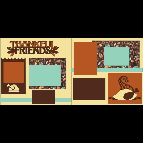 THANKSGIVING - THANKFUL FRIENDS -basic page kit