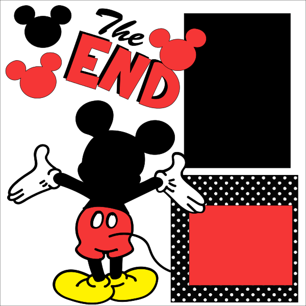 Disney The End Last Page --  page kit