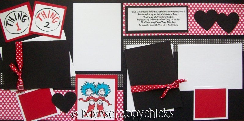 Thing 1 and Thing 2  page kit