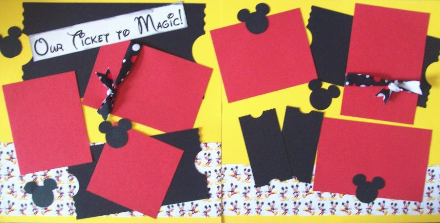 Your ticket to magic Disney Page Kit