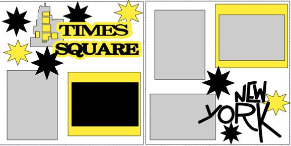 Times Square New York --  page kit