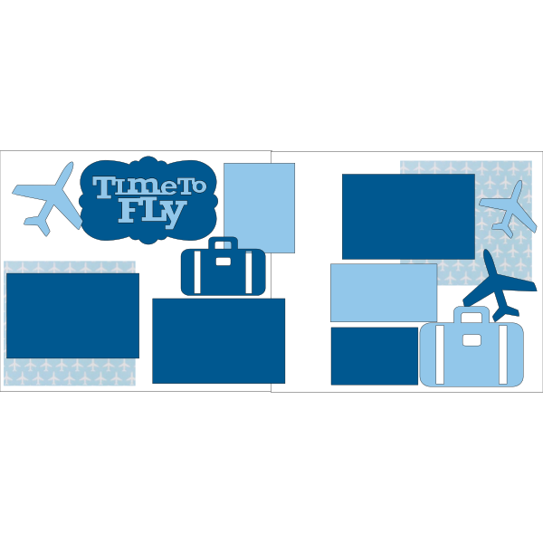 TIME TO FLY TRAVEL -basic page kit