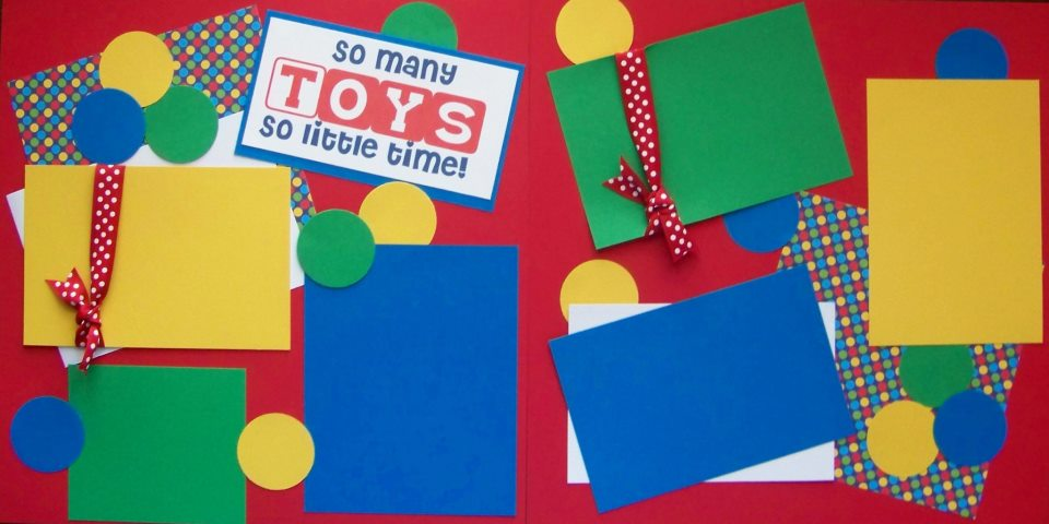 SO MANY TOYS SO LITTLE TIME   page kit