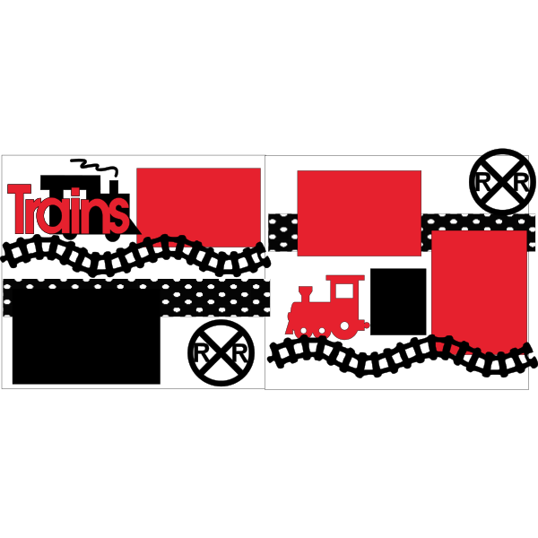 TRAINS  -basic page kit