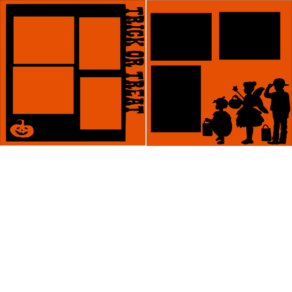 TRICK OR TREAT OVERLAY SET  -basic page kit