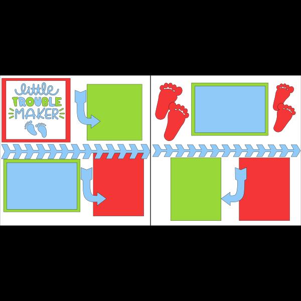 LITTLE TROUBLE MAKER  -basic page kit