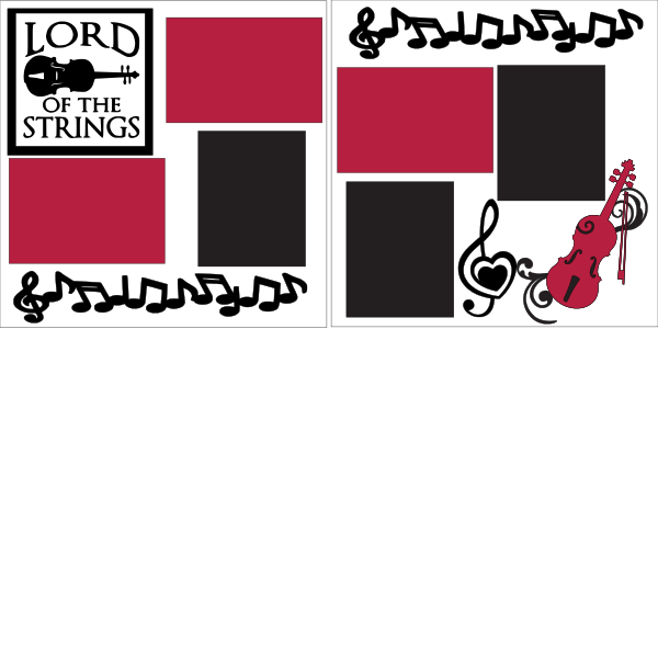 Lord of the Strings Violin --  page kit
