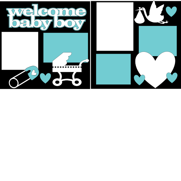 Welcome Baby Boy  Page Kit