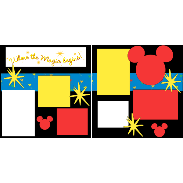 WHERE THE MAGIC BEGINS -DISNEY -basic page kit