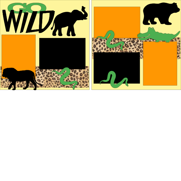 WILD ONE ZOO PAGE KIT