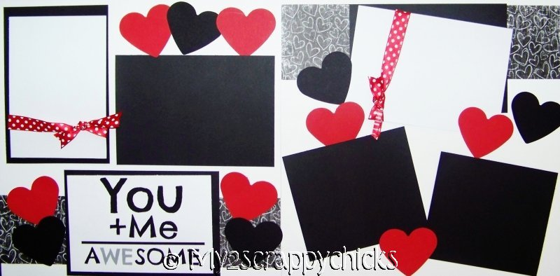 You + Me = AWESOME  page kit